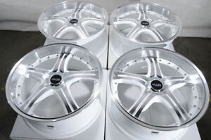 18 White Wheels Fits Accord Civic Hyundai Elantra Tiburon Volvo Sonata V40 Rims