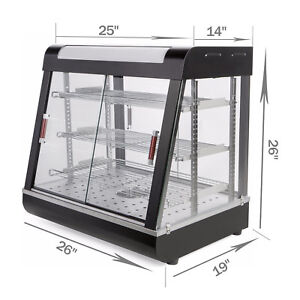 27 commercial Food Warmer Court Heat Food Pizza Display Warmer Cabinet Glass Gt