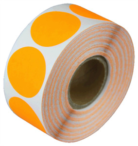0 75 Adhesive Code Stickers Orange Dot Inventory Sale Coding Labels 50 Rolls