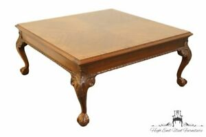 High End Banded Bookmatched Mahogany Chippendale Style 40 Coffee Table