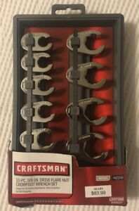 Craftsman 9 42048 10pc 3 8 Drive Flare Nut Crowfoot Metric Wrench Set