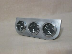 Rare 1950 S Gauge Panel With 3 New Old Stock Gauges With Light Bulb Option