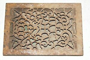 Vintage Ornate Cast Iron Grate Register Damper Louvers Cover Heating 16 X 11