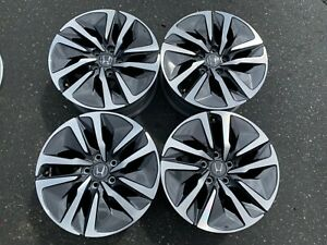 Four 2018 2019 Honda Accord Factory 17 Wheels Oem Rims 17075ctva