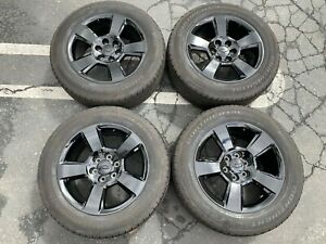 2018 Chevy Silverado Ltz Factory Black 20 Wheels Tires Oem 5652 Tahoe Suburban