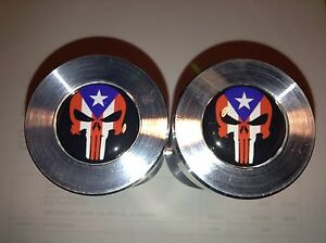 Two Hole Pins Standard Size Punisher Puerto Rico Flag 1 2 To 1 5 8
