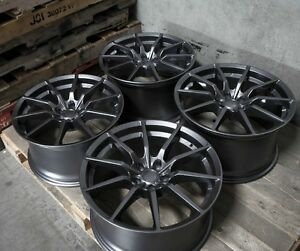19 Gunmetal Mrr M350 Rotary Forged Wheels 19x10 19x11 5x114 3 Fit Ford Mustang