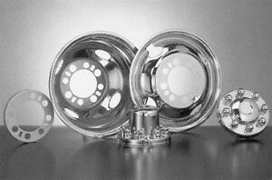 Wheel Covers Chevy C3500 Pickup 16 8 Lug Bolt On 4 Hole Stainless Steel New