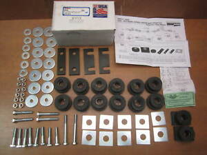 55 56 57 Chevy Body Frame Mount Bushing Kit Bolts 1955 1957 Sedan Nomad Wagon