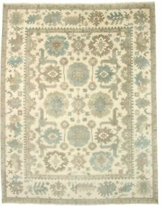 Floral Hand Knotted Vintage Oushak 9x12 Indian Area Rug Oriental D Cor Carpet