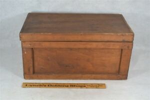 Box Wooden Hand Made Document Small 16 X 9 Pine Antique Vintage