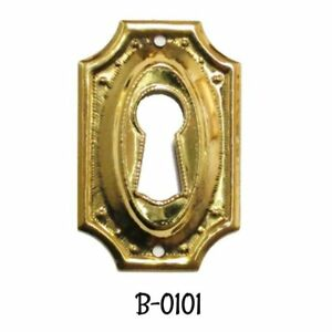 Keyhole Cover Hepplewhite Sheraton Style Stamped Brass Key Hole Cover Escutcheon