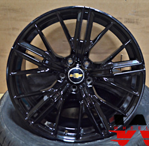 20 Gloss Black Wheels Rims Zl1 1le Style Fits Chevrolet Camaro 20x10 20x11