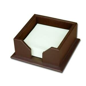 Dacasso A3475 Leather 3x3 Post it Note Holder