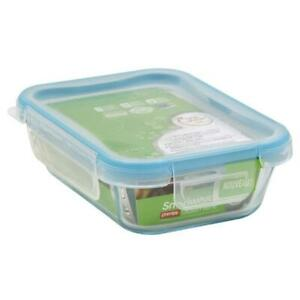 World Kitchen 1112403 6 Cup Glass Rectangle With Plastic Lid Pack Of 2