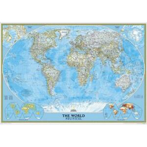 National Geographic Re00622008 World Classic Enlarged Map