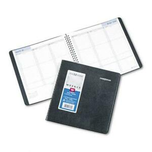 At a glance G59500 Weekly Appointment Book Ruled 8 X 8 1 2 Black