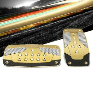 Nrg Nrg Pdl 450cg Brake Gas Automatic At Chrome Gold Foot Pedal Plates Cover Set