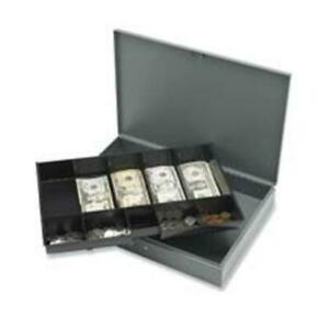 Sparco Products Spr15500 Cash Box W 2 Keys 10 Compartments 10 50in x15in