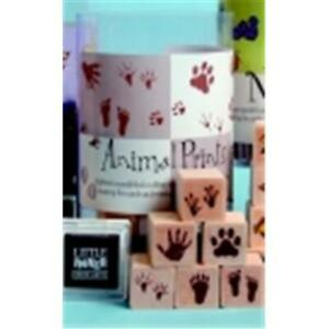 Hero Arts Ink N Stamp Animal Prints Stamp Set With Stamp Pads 1 X 1 In A