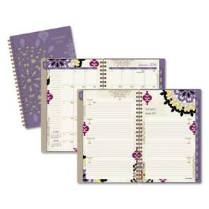 At a glance 122200 Vienna Weekly Monthly Appointment Book Purple