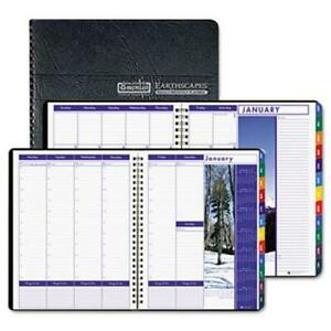 House Of Doolittle 273 Earthscapes Weekly monthly Planner 8 1 2 X 11 Black