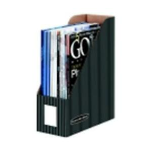 Bankers Box Corrugated Paper Magazine File Holder With Pinstripe Letter Gra