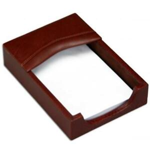 Dacasso A3009 4x6 Leather Memo Holder With Mocha Top Grain Leather Material