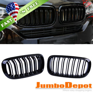 Us Front Center Kidney Grille Glossy Black Fit 15 18 Bmw F15 F16 X5 X6 X5m X6m