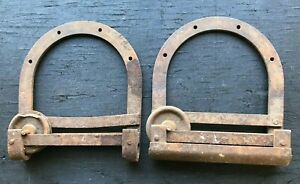 A Pair Of Vintage Horseshoe Style Barn Door Rollers Hardware 10 Inch