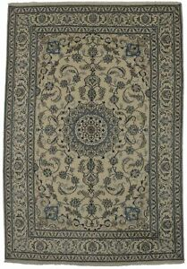 7x10 Hand Knotted Classic Nain Vintage Persian Area Rug Oriental Carpet 6 7x9 9