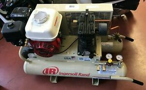 Ingersoll Rand Gas Portable Air Compressor 5 5 Hp 11 8 Cfm At 90 Psi