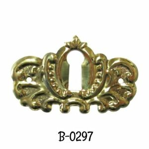 Keyhole Cover Antique Victorian Style Stamped Brass Key Hole Cover Escutcheon
