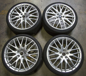 Set Of 4 Oem Audi S Line Tt Tts Rims Wheels Pirelli Summer Tires 8s0601025s
