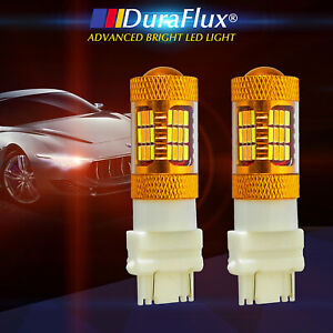 Duraflux 2x 3157 Led Switchback Drl Light White Yellow Turn Signal Lights 54 Smd