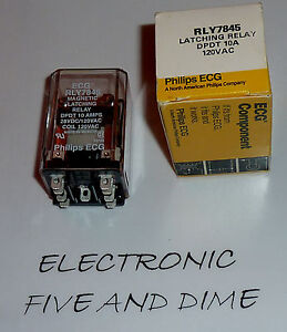 Rly7845 Ecg Latching Relay Dpdt 10a 120vac