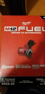 New Milwaukee Electric Tool 2522 20 M12 Fuel 3 Compact Cut Off Tool Bare