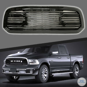 Fits For 2013 2017 Dodge Ram 1500 Front Grill Big Horn Style Gloss Black Grille