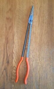 Matco Tools Extra Long Needle Nose Pliers Orange Handle Psrt Pno160b
