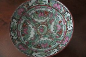 Antique Chinese Familie Rose Medallion Porcelain Bowl Late 1800 S
