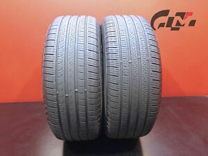 2 Nice Pirelli Tires 245 50 18 Cinturato P7 100v M s Runflat Bmw No Patch 44925