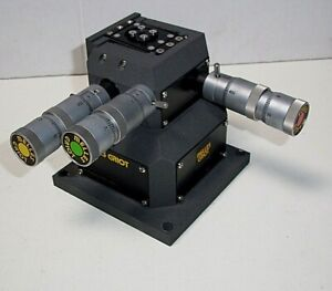 Melles Griot 17anc005 md 3 axis Xyz Stage W 3 Differential Micrometers