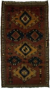 Nice Semi Antique Hand Knotted Tribal Persian Area Wool Rug Oriental Carpet 5x9