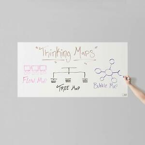 Think Board White Self adhesive Whiteboard Wall Sticker 24 X 48 Peel And