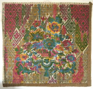 Beautiful Late 19th C French Floral Painting For Tapestry Development W120