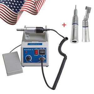 Dental Lab Marathon Polisher electric Motor Contra Angle Straight Handpiece Us