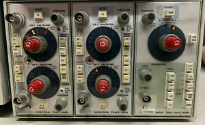 Lot Of 4 Tektronix W 2 5a18n 5b10n 5a15n Amplifier Modules free Shipping