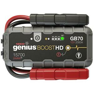 Jump Starter Box Genius Boost Hd Lithium Ion 2000 Peak Amps Each