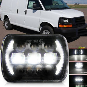 Dot 5x7 7x6 Led Headlight Sealed Hi lo Beam Drl For Savana 1500 2500 3500
