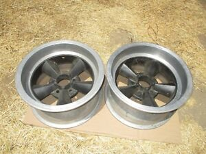 16x8 5 American Made Torq Thrust Mag Wheels Rims 5x4 75 Chevy Vintage Drag Race